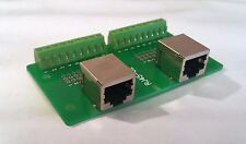 Dual RJ-45 Jack Connector Breakout Board Adapter 2x 8P8C RJ45