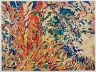MAURICE DE VLAMINCK RARE 1948 FAUVISM LMTD ED LITHOGRAPH PRINT LES PLATANES 1907