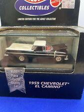 Hot Wheels 100% Collectibles 1959 Chevrolet EL Camino Black  with Real Riders