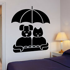 Wall Decal Cat Dog Friendship Pets Pop Art Cool Decor For Living Room (z2632)