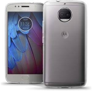Glossy TPU Gel Case Skin for Motorola Moto G5S Plus Cover + Screen Protector