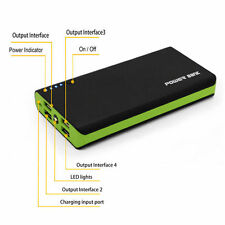 GREEN 500000mAh Dual 4 USB Portable Power Bank Battery Charger for Mobile Phone