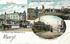 Parade Day, Scrap Iron Band, Horse-Drawn Floats, Pacific Ave, Wildwood NJ 1907