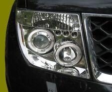Chrome Projector LED Headlight for Nissan Navara D40 Pathfinder head lamps PAIR