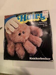 Vintage Knickerbocker HAIRY Spider Glove  Hand Puppet Stuffed Toy Cute Furry