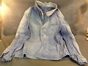 Antike Jacke -blau De Travail En Moleskine Herstellung IN Frankreich Solida Latz
