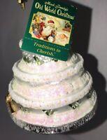 Old World Christmas Ornaments: Wedding Cake Glass Blown Ornament *New, No Box*