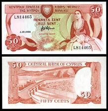 CHYPRE - CYPRUS - 50 sent - 1988 - P52 - UNC