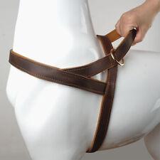 Genuine Leather No Pull Medium Large Dog Harness Strap Adjustable for Doberman