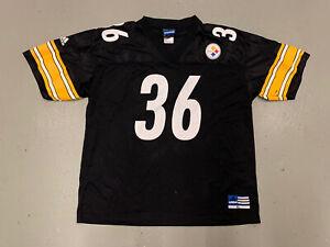Vintage Adidas Jerome Bettis Jersey Pittsburgh Steelers Black #36 Men XL 90s