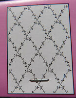 Crafts-Too/CTA4018/Embossing /Folder / Flower Lattice / A4 / Vine