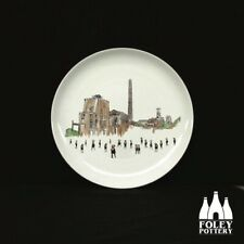 "GB: Stoke - Chatterley Whitfield Colliery inspired 6"" plate By Foley Pottery"