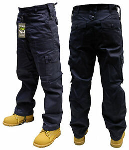"""44"""" INCH NAVY BLUE ARMY MILITARY CARGO COMBAT SECURITY TROUSERS PANTS"""