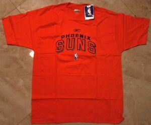 Phoenix Suns Embroidered Logos T-shirt XL Orange Reebok NBA