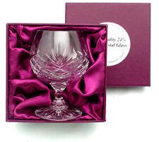 HAND CUT LEAD CRYSTAL COGNAC GLASS 25cl Luxury Box Brandy Presentation Gift NEW