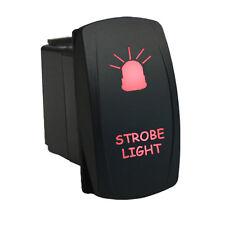 Rocker switch 624R 12V STROBE LIGHT Laser LED red universal