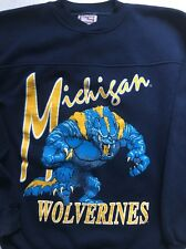 Vintage Michigan Wolverines Crable Crewneck Sweatshirt Size L 80s 90s U of M