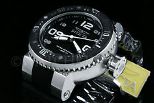 NEW Invicta Men 52MM Grand Pro Diver Blak Dial White Accent SS Black Strap Watch