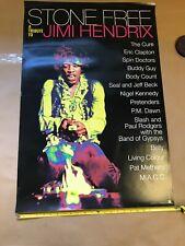 Jimi Hendrix Tribute Stone Free Promo Poster Eric Clapton The Cure Almost Mint