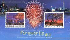 ÖSTERREICH - 2006 BLOCK 35 FEUERWERK FIREWORKS MIT HONGKONG MARKE postfrisch **