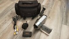 JVC GR-SXM750U Compact VHS Camcorder with Battery, Charger, RCA, Carrying Case