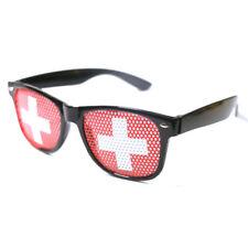 Switzerland flag glasses,fun party glasses,flag of Switzerland party glasses