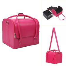 Large Beauty Cosmetic Box Makeup Vanity Nail Tech Storage Hair Salon Case Bag UK