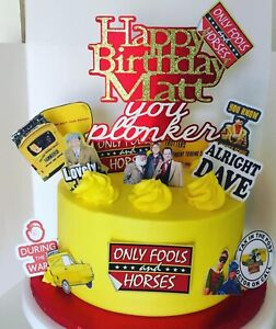 """ONLY FOOLS & HORSES PERSONALISED 6"""" CAKE TOPPER + ADD EXTRA MINI TOPPERS"""
