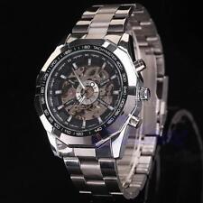 WINNER Semi-Automatik Mechanische Skelett See-through Dial Luxus Uhr