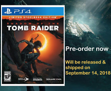NEW Shadow of the Tomb Raider PS4 Limited Steelbook Edition - PlayStation 4 Game