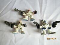 "2004 3 Clone Troopers  2"" Action Figures Star Wars Hasbro LFL Mini Heros  Q4"