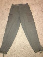 Vtg 1940's Acb Stockholm Sweden Millitary 3 Crown Wool Pants 98L 34X34