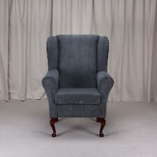 Westoe Armchair in a Metropolis Slate Grey Jumbo Cord Fabric