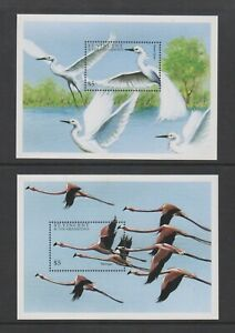 St Vincent Grenadines - 1997, Water Birds sheets x 2 - MNH