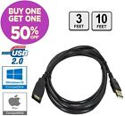USB 2.0 Extension Cable Extender Cord Male A to Female A Charger Data Sync Power