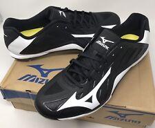 Mizuno Mens Heist Iq Baseball Cleats Metal 320501 Black White New Size 13
