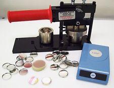 """1"""" Tecre Button Machine, Button Boy Punch, 1000 Metal Flat Back Parts"""
