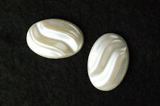 Oval Pearl Half Bead Wave Top Flat Back Jewelry Finding Decoration Cellphone