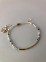 Howlite Power Beads Gemstone Dainty Bracelet: Tranquility, Calming, Awareness,