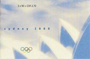 Switzerland 2000 Olympics Complete Booklet Sc #1086a (Zum #70), CV $6.50 - ow512
