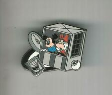 Disney Pin Button Mickey and Minnie Twilight Zone Tower of Terror Ride RARE