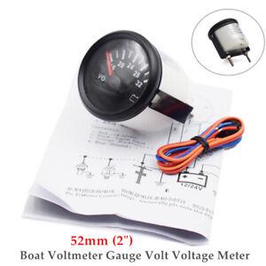 """52mm 2"""" 16-32V Boat Voltmeter Gauge Volt Voltage Meter Waterproof Durable"""