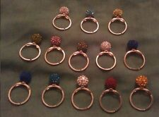 Handmade Silver Plated Round Costume Rings