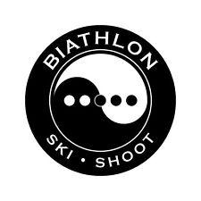 Biathlon Decal - Yin-Yang 5-Target - 3.0 Inches