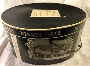Vintage Mr. Disney Oval Shaped Hat Box Carrying Storage Case Currier & Ives EUC