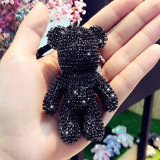 Hot Selling Lovely Panda Rhinestone key Ring Charm Women Bags Pendant Key Chain