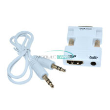 HDMI Female to VGA Male Converter + Audio Cable Support 1080P Signal Output top
