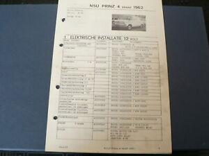AT145 NSU PRINZ 4 VANAF 1962   INFO TECHNICAL CAR AUTO