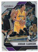 2016-17 Panini Prizm Basketball Jordan Clarkson SP Silver Prizm #134 Lakers Jazz