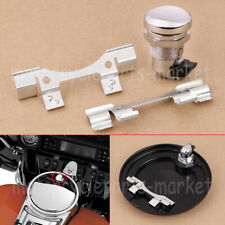 Chrome Push Button Fuel Door Latch Kit For Harley Touring Street Glide FLH 92-19